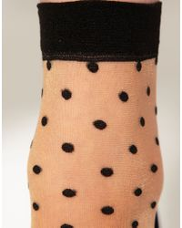 ASOS Collection | Natural Asos Polka Spot Sheer Ankle Socks | Lyst
