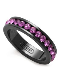 COACH Black Pave Band Ring