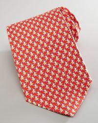 Ferragamo - Red Dog-Print Silk Tie for Men - Lyst