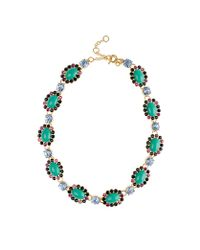 J.Crew | Green Crystal Color Mix Necklace | Lyst