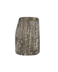 AllSaints - Metallic Voltaire Skirt - Lyst