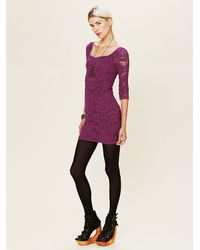 Free People Purple Bodycon Dress