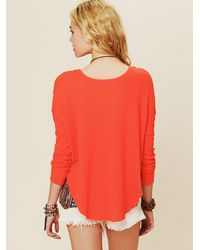 Free People - Red Billie Jean Thermal - Lyst