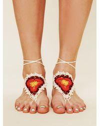 Free People - White Crochet Sun Foot Tie - Lyst