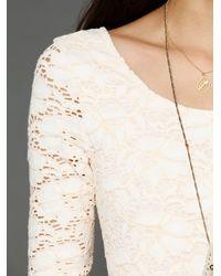 Free People - White Rose Garden Dress - Lyst