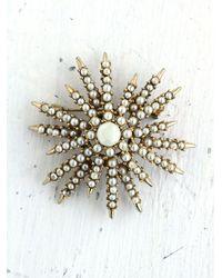Free People | Multicolor Vintage Costume Pearl Snowflake Pin | Lyst