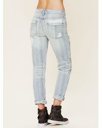 Free People - Blue 5 Pocket Slim Slouch Jeans - Lyst