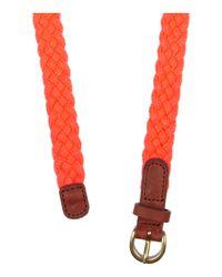 J.Crew - Orange Braided Cotton Canvas Rope Belt - Lyst