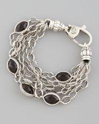 Lagos | Metallic Venus Fluted Smoky Topaz Bracelet | Lyst