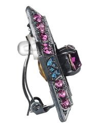 Lanvin - Blue Swarovski Crystal Star Clip Earrings - Lyst