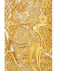 Mallarino Metallic Cielo 24karat Goldvermeil Filigree Cuff