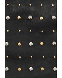 Miu Miu | Black Studded Leather Gloves | Lyst