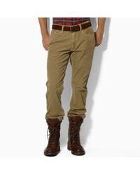 Polo Ralph Lauren | Khaki Five-Pocket Straight Fit Cords for Men | Lyst