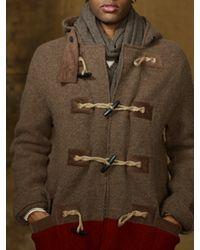 Ralph Lauren Brown Blanket Striped Duffle Coat for men