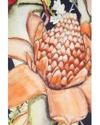 Swash London - Multicolor Midnight Heligan Printed Silk Scarf - Lyst