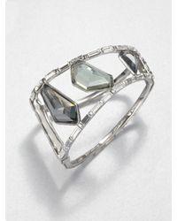 Alexis Bittar - Metallic Linear Baguette Stone Bangle Bracelet - Lyst