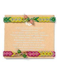 Chan Luu - Multicolor For Breastcancerorg Woven Friendship Bracelet Set - Lyst