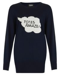Markus Lupfer | Blue Totes Amaze Sequin Jumper in Navy | Lyst