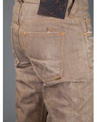 PRPS Noir Brown Rambler Distressed Jeans for men