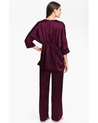 Donna Karan New York   Purple Glamour Silk Pyjamas   Lyst
