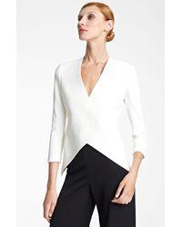 Donna Karan New York | White Collection Knit Tuxedo Jacket | Lyst