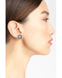 kate spade new york   Metallic Stud Earrings   Lyst