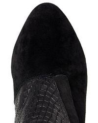 Rebecca Minkoff Black Snake Embossed Boots