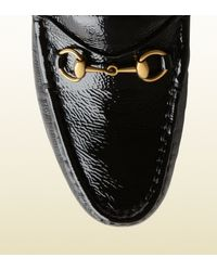 Gucci Black 1953 Horsebit Loafer In Patent Leather