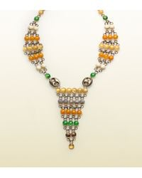 Gucci - Necklace with Multicolor Beads - Lyst