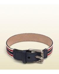 Gucci | Belt Inspired Ribbon Bracelet for Men | Lyst
