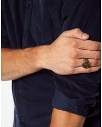 ASOS - Metallic Asos Seal Ring for Men - Lyst