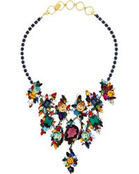Erickson Beamon | Multicolor Gunmetal and Goldplated Swarovski Crystal Necklace | Lyst