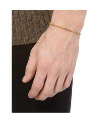 Luis Morais - Metallic Sandalwood and Gold Cross Bracelet for Men - Lyst