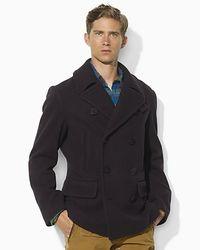Polo Ralph Lauren | Black Academy Wool Pea Coat for Men | Lyst