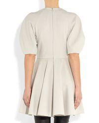 Alexander McQueen | White Woolblend Stretchjersey Dress | Lyst