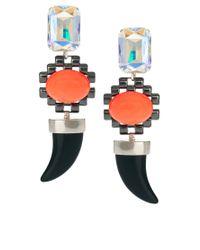 ASOS - Multicolor Pastel Horn Doorknocker Earrings - Lyst
