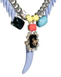 ASOS | Multicolor Pastel Horn Necklace | Lyst