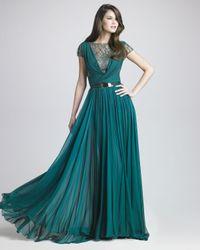 Elie Saab | Blue Lattice Chiffon Gown | Lyst