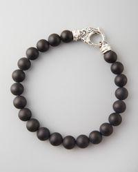 Stephen Webster | Black Beaded Onyx Bracelet for Men | Lyst