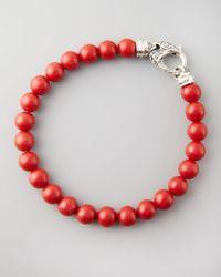 Stephen Webster - Beaded Red Coral Bracelet 8mm for Men - Lyst
