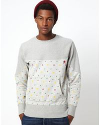 Vivienne Westwood Anglomania For Lee Gray Sweatshirt with Orb Print for men