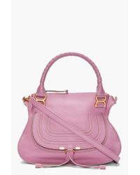 Chloé | Pink Lilac Leather Marcie Bag | Lyst