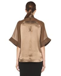 Givenchy | Multicolor Satin Tie Neck Blouse in Multi | Lyst