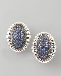 Lagos Metallic Muse Pave Sapphire Earrings