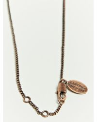 Lanvin - Metallic Chain Embrodery Necklace for Men - Lyst