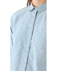 Madewell - Blue Dotted Chambray Shirt - Lyst