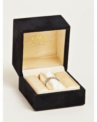 Nonnative Metallic Ridged Dweller Ring for men