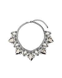 TOPSHOP - Metallic Box Chain Tear Necklace - Lyst