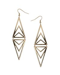 TOPSHOP | Metallic Diamond Cut Swing Earrings | Lyst