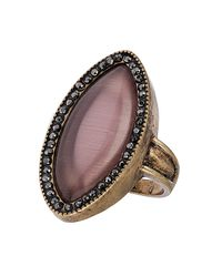 TOPSHOP | Purple Cats-Eye Stone Surround Ring | Lyst